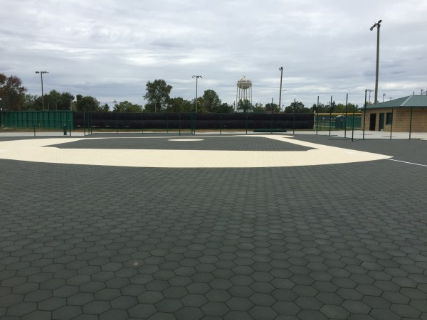 Miracle League Baseball Field with Sofscape Rubber Pavers